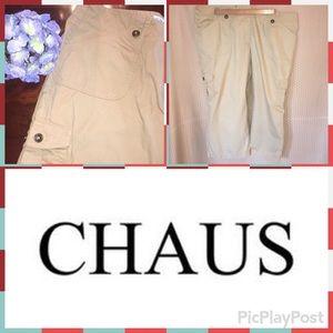 CHAUS Khaki Plus Size Capris!